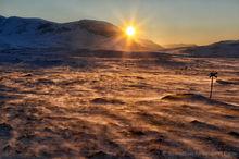 Sunrise near Abisko, Sweden