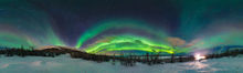 Aurora borealis display over Abisko, Sweden