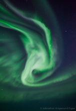 Aurora borealis near Kiruna, Sweden