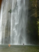 Shine Falls, waterfall, North Island, New Zealand, swimming, wading, below, Hawke's Bay, region