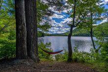 Thirteenth Lake campsite with hammock