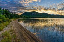 Tirrell Pond northeast crescent beach summer sunrise