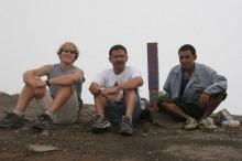 Summit of Merbabu with local friends