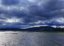 Tupper Lake,windy,blue,storm,clouds