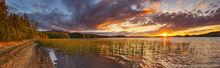 Upper Saranac Lake,Saranac Lake,summer sunset,summer,panorama,Ampersand,Ampersand Bay,Middle Saranac Lake