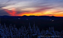Vanderwhacker Mt,sunset,winter,treetop,