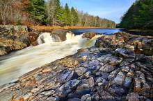 West Canada Creek falls near Nobleboro