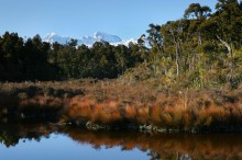 Gillespies Lagoon, West Coast, Mt. Aoraki/Cook, Mt. Cook, Tasman, New Zealand