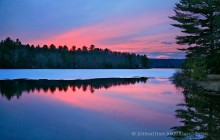 White Lake,sunset,spring,ice,receding,lake,early