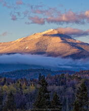 Whiteface Mt November snowfall and low clouds from River Road
