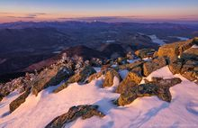 Whiteface Mt,summit,rocks,alpenglow,pink snow and rocks,High Peaks,March,2020,late winter,Whiteface,Whiteface Mountain,