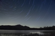 Whiteface,startrails,night,sky,Whiteface Mt,Conerell Pond,November,