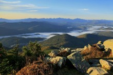 Whiteface Mt summit rocks and High Peaks