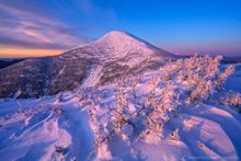 Algonquin Peak,Algonquin,High Peaks,winter 2020,2020,winter,snow,Adirondack Mountains,Adirondacks,Wright Peak,summit,summit dome,alpenglow