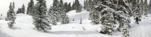 Red Mountain Pass, backcountry, skiing, splitboarding, Jack Brauer, Ouray, Colorado, panorama, winter, white, deep, snow