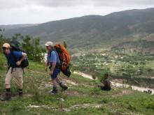 hiking up lower part Chaine de la Selle