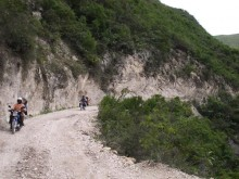 riding motorbikes 2 hrs on dirt roads