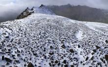 1st Snowfall on a Tierra del Fuegan Peak