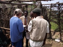 talking to the village pastor