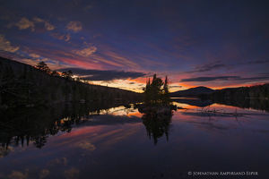 County Line Flow,twilight,November,2017,County Line Flow twilight,evening,island,pond,Adirondack Park,