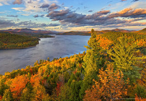 Schroon Lake fr southeast shoreline Treetop in autumn