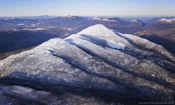 Iroquios Peak and Algonquin Mt, winter aerial