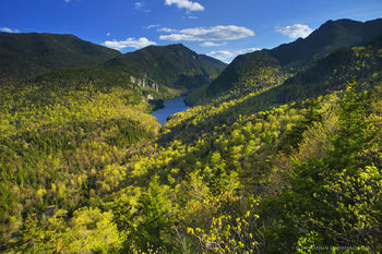 Lower Ausable Lake between Colvin and Sawteeth Mts from Lost Lookout trail