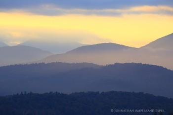 Belfry Mt Firetower telephoto view west