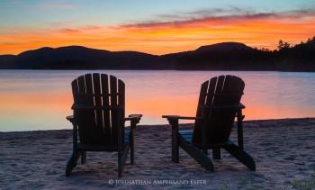Adirondack Chairs on Blue Mountain Lake