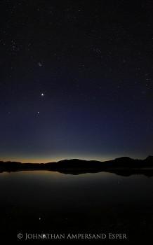 Blue Mountain Lake with Venus & Jupiter