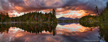 Boreas Pond sunset stormclouds in autumn