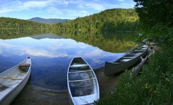 Adk Loj Canoes on Heart Lake