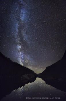 Cascade Lakes Milky Way stars night sky