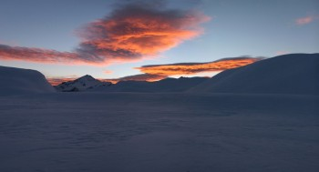 Mt Aspiring from Cascade Saddle, Winter