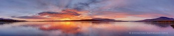 Chazy Lake and Lyon Mt brilliant sunrise