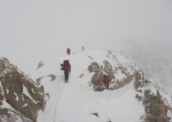 Snowstorm on the West Buttress at 17000