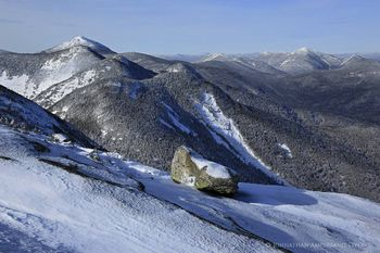 Gothics Mt summit view of Saddleback, Basin, Mt Marcy, Algonquin