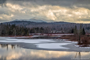 Hudson River Flow and Vanderwhacker Mt from Newcomb in November