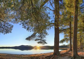 Lake Eaton Campsite White Pines HDR