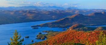 Lake George Narrows, High Peaks to North