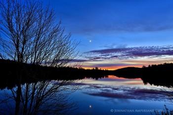 Mason Lake twilight w maple sillouette