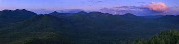 Full Moon over High Peaks from Mt Adams