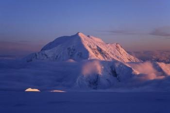 Arctic Midnight Alpenglow on Mt. Foraker