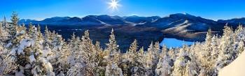 Heart Lake & High Peaks winter fr. Mt Jo