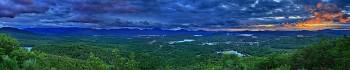 Saranac Lake storm clouds Baker treetop