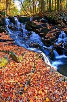 Shelving Rock Brook upper falls