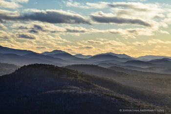 Silver Lake Mountain telephoto view over Adirondack Mountain layers