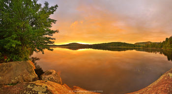South Pond orange summer sunset