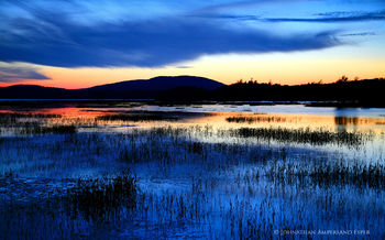 Tupper Lake and Mt Arab Blue Twilight