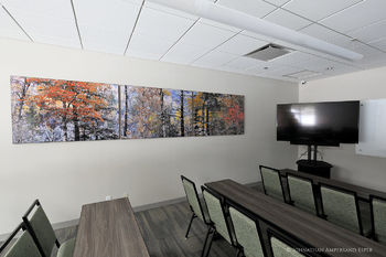 Word-of-Life-student-center-20-piece-installation, with 12ft triptych